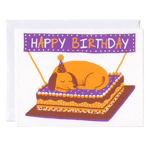 Dog On A Cake Card - World Famous Original