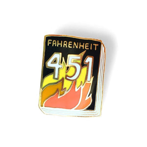 Fahrenheit 451 Book Pin - World Famous Original