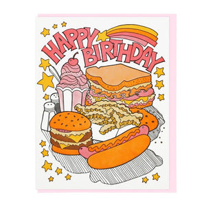 Fast Food Birthday Card - World Famous Original