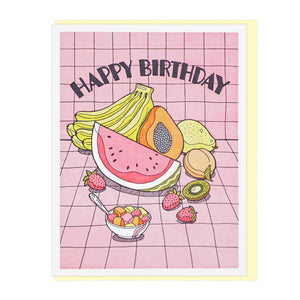 Fresh Fruit Birthday Card - World Famous Original
