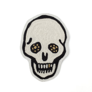 Gold Tooth Skull - Chainstitch patch - World Famous Original