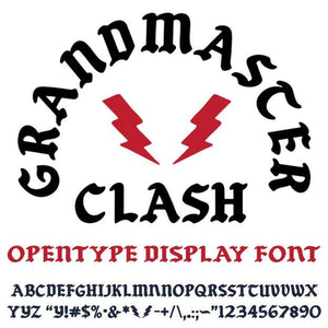 Grandmaster Clash Font - Commercial (Free personal use link in description) - World Famous Original