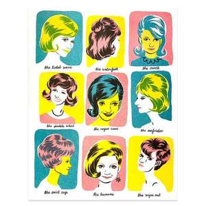 Hairstyles Riso Print