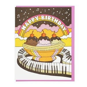 Happy Birthday Musical Banana Split Card - World Famous Original