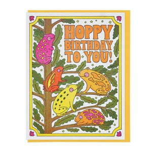 Hoppy Birthday To You Frog Card - World Famous Original