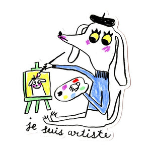 Je Suis Artiste Sticker - World Famous Original