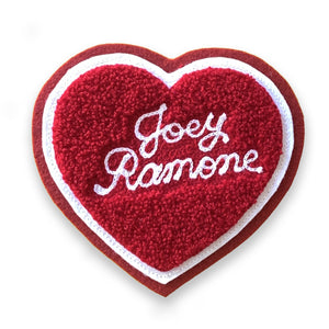 Joey Ramone Chenille Heart Patch - World Famous Original