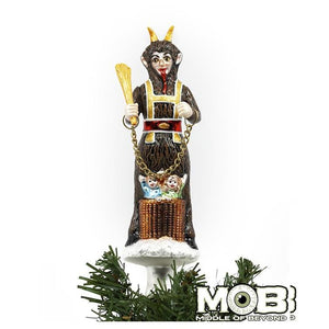 Krampus Glass Tree Topper - World Famous Original