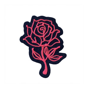 Neon Rose - Chainstitch Patch - World Famous Original