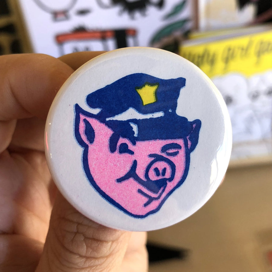 "Officer Porky Button - 1.75"" - World Famous Original"
