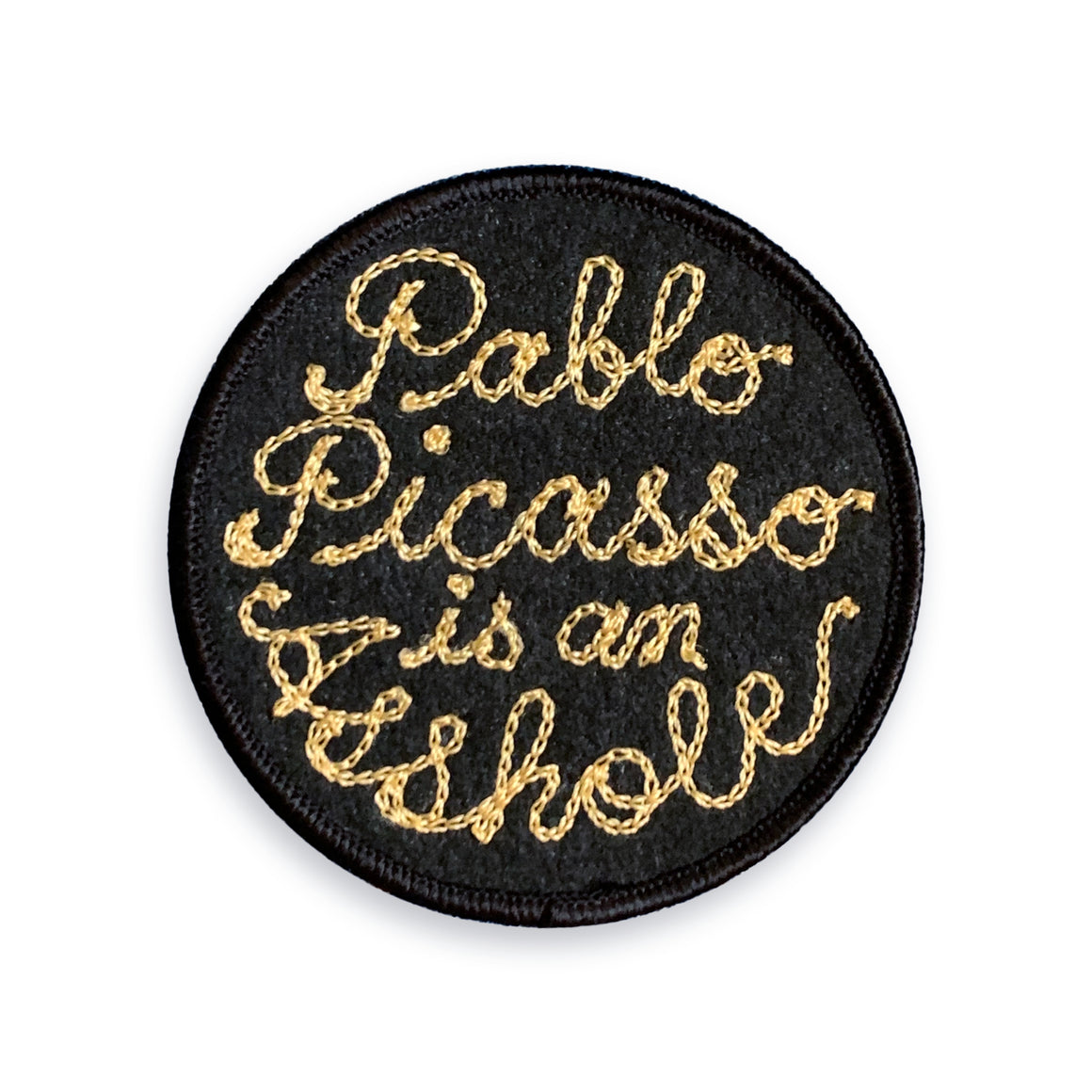 Pablo Picasso Chainstitch Patch