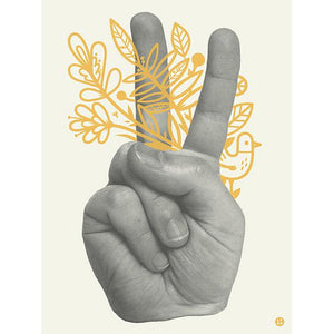Peace Flowers Print - World Famous Original