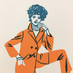 """Petites Femmes"" - 2 Color Riso Print by Bijou Karman - World Famous Original"