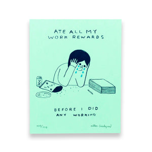 "Hiller Goodspeed ""Rewards"" Screenprint"