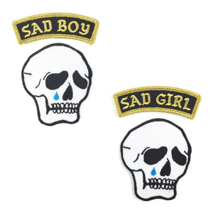 Sad Boy or Sad Girl Patch Set - World Famous Original