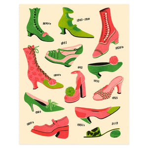 Shoes Riso Print