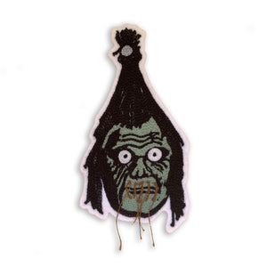 Shrunken Head Chain Stitch Patch
