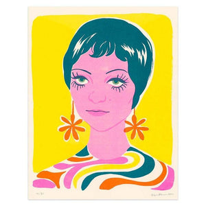 Sixties Woman Riso Print