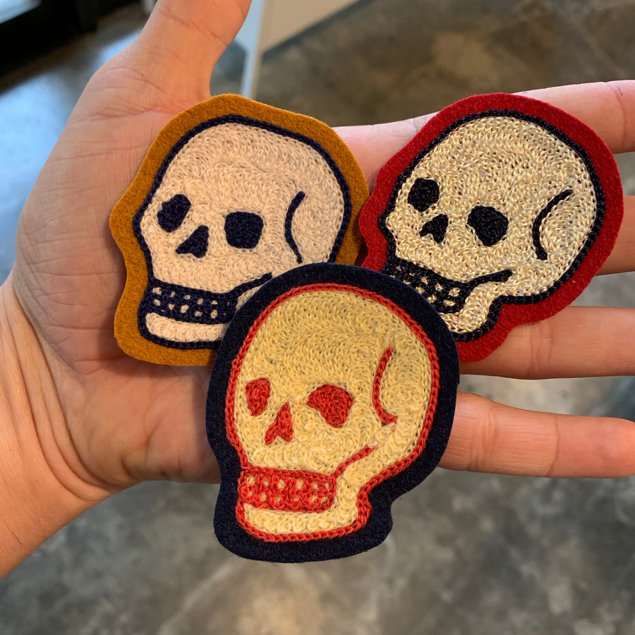 Mini Chainstitch Skulls