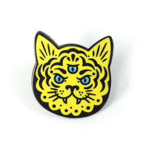 Steiner Three Eyed Cat Pin - World Famous Original