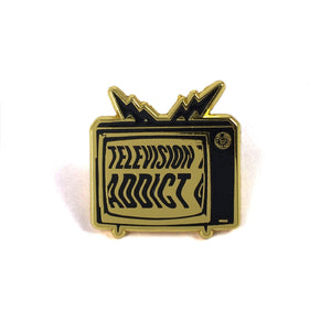 Television Addict Pin - World Famous Original