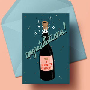Congratulations, I Don't Care - Card