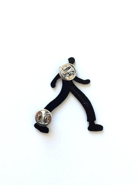Walking Boy Enamel Pin - World Famous Original