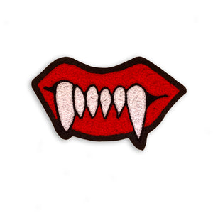 Wax Lips Chain Stitch Patch