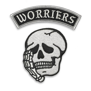 Worriers Anxiety Club Patch Set - WHITE MINI VERSION