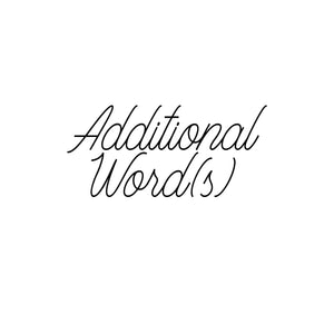 2 Additional Words