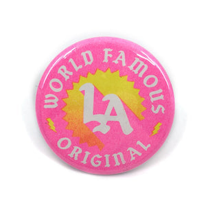 "World Famous Original LA Sunset Button - 1.75"" - World Famous Original"