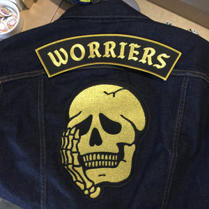 Worriers Anxiety Club - Back Patches - World Famous Original