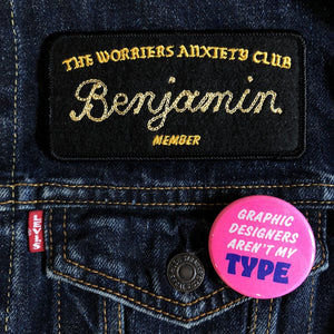Worriers Anxiety Club Member Patch - World Famous Original