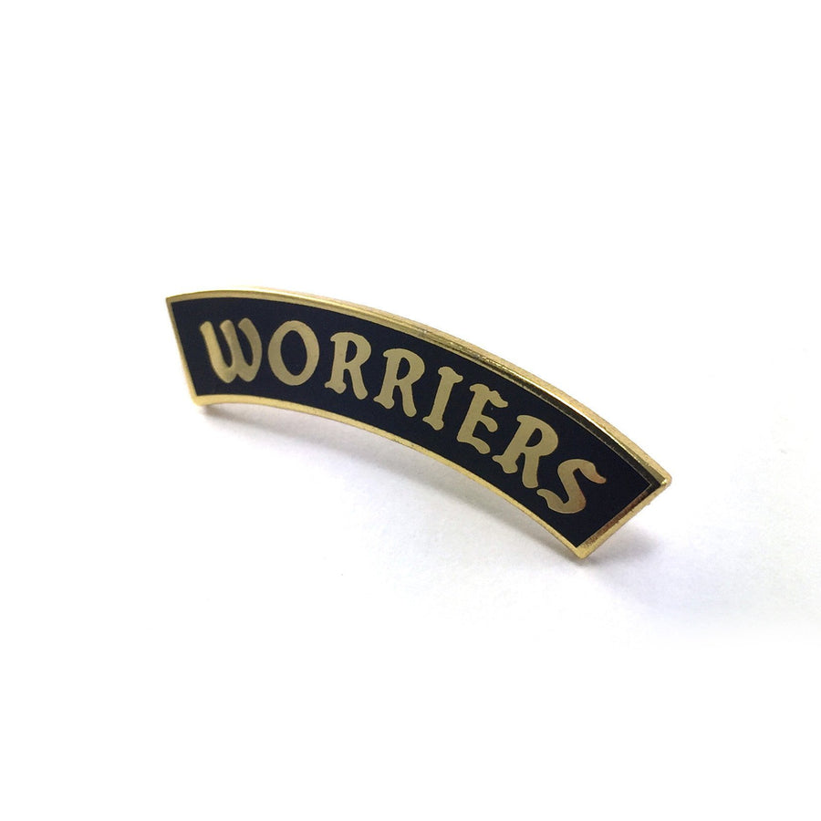 Worriers Anxiety Club Pin - World Famous Original