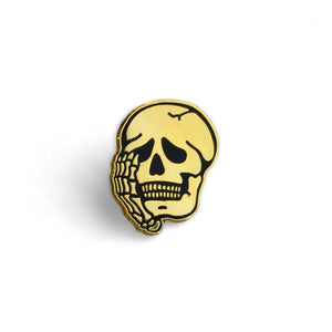 Worriers Anxiety Club Skull - Pin - World Famous Original