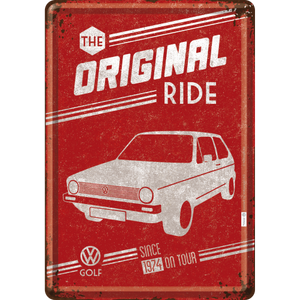 VW Golf - The Original Ride (Póstkort úr málmi)