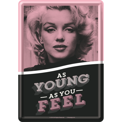 Marilyn - As Young as You Feel (Póstkort úr málmi)