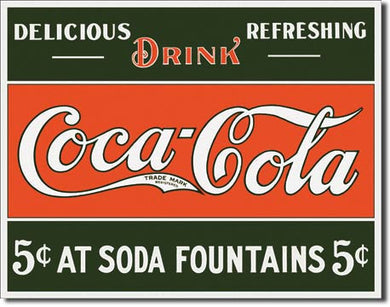 COKE 5 cents at Fountain - 1052