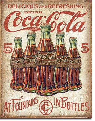 COKE - 5 Bottles Retro - 2091