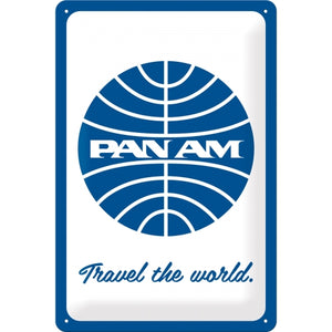 Pan Am - Travel the world Logo White