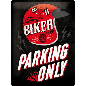 Biker Parking Only - Helmet