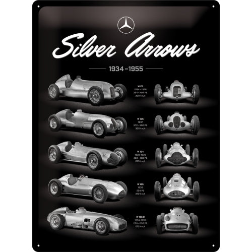 Mercedes Benz - Silver Arrow Chart - Skilti