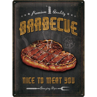Barbecue Nice To Meat You - skilti