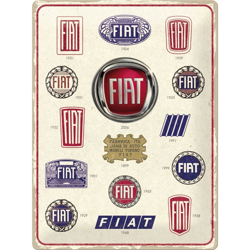 Fiat Logo Evolution - Skilti