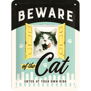 Beware of the Cat - skilti minna