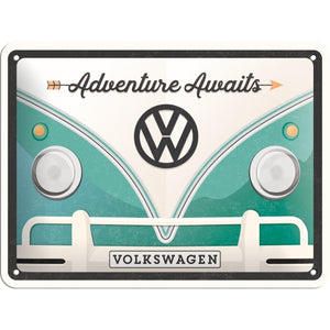 VW Bulli - Adventure Awaits - Skilti