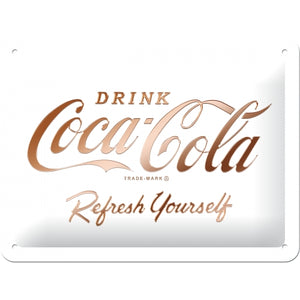 Coca Cola - Logo White Refresh yourself