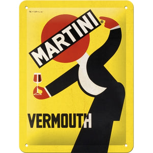 Martini - Vermouth Waiter Yellow -  skilti