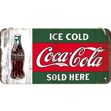 Coca Cola - Ice Cold Sold Here - Hangandi Skilti