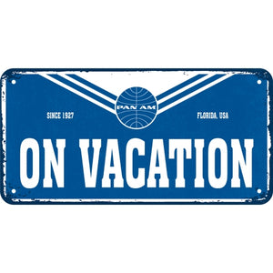 Pan Am - On Vacation - Hangandi Skilti